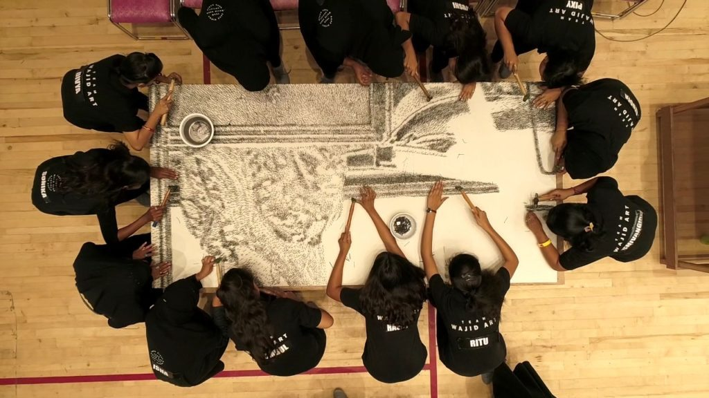 Indore Artists Create World's Largest Mosaic Portrait